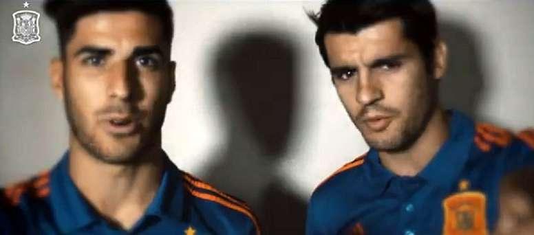 Morata and Asensio want to see Spanish fans at the Bernabéu. Captura/SeFutbol