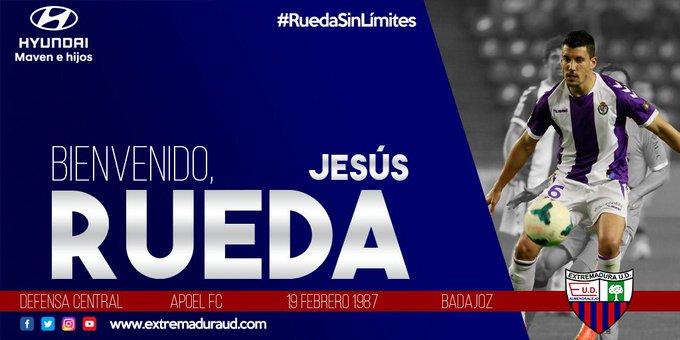 Así anunció el Extremadura el fichaje de Jesús Rueda. Twitter/EXT_UD