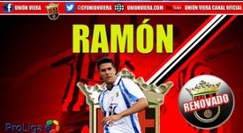 Así anunció el Unión Viera la renovación de Ramón Muñoz. Twitter/CFUniónViera