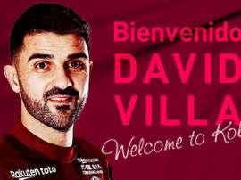 Villa jugará en el Vissel Kobe. Twitter/Vissel_Kobe