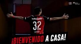 Ex do Inter e do River Plate assinou com o Newell's Old Boys. Captura/CANOBoficial
