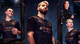 Así es la segunda equipación del Manchester City para la 2020-21. Twitter/ManCityES