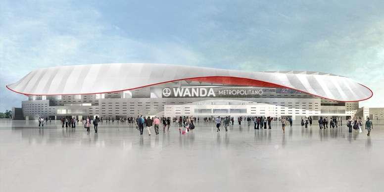 La afición está que trina con el nuevo escudo y el nombre del estadio. ClubAtléticodeMadrid
