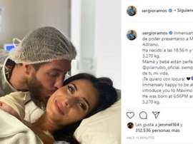 Ramos apresentou o seu quarto filho. Instagram/SergioRamos