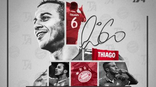 Thiavgo will never forger his time at Bayern Munich. Twitter/Thiago6