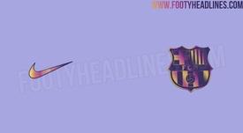 Así sería la segunda equipación del Barça para la 2021-22. FootyHeadlines