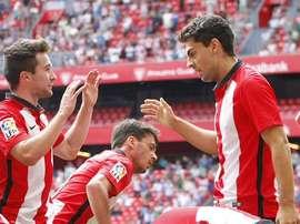 El Bilbao Athletic se quedó a base de goles con los tres puntos del Leioa. Twitter