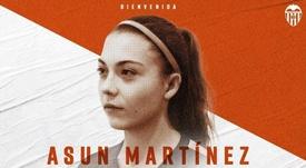Asun Martínez se unió a las filas del Valencia. Twitter/VCF_Femenino