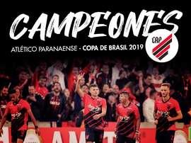 Athletico Paranaense, campeón de la Copa Brasil 2019. BeSoccer