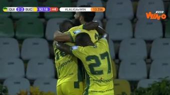 Atlético Bucaramanga remontó un 2-0 inicial. Captura/WinSportsTV