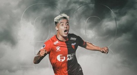 Brian Fernández firmó con Colón. Twitter/ColonOficial