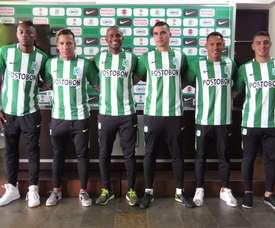 El conjunto colombiano presentó a sus seis va. AtléticoNacional