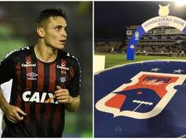 Atlético-PR e Paraná se enfrentam pela 26ª rodada do Campeonato Brasileiro. Collage/Twitter