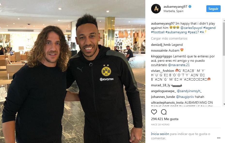 Regresa Aubameyang a entrenar con el Borussia Dortmund