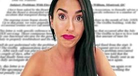 Aurah Ruiz se defendió de la denuncia de su ex pareja. Captura/MTMAD