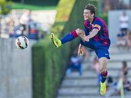Babunski, en un partido con el filial del Barcelona. Twitter