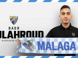 Boulahroud firma hasta 2021. Twitter/MalagaCF