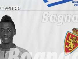 Bagnack, nuevo jugador del Zaragoza. RealZaragoza