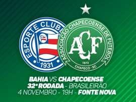 Bahia e Chapecoense se enfrentam pela 32ª rodada do Campeonato Brasileiro. Twitter @ChapecoenseReal