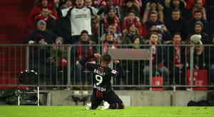 O Leverkusen toma o Allianz com dois de Bailey. Twitter/bayer04fussball