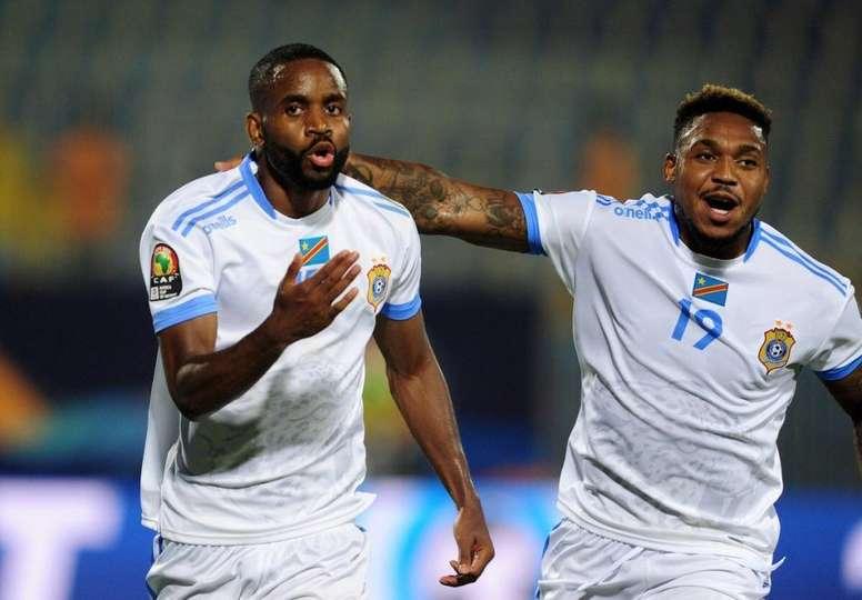 Islam Slimani décisif avec l'Algérie contre la RDC. AFP