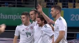 Bale hit three past China. beINSports