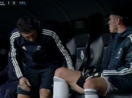 Bale no cuajó una gran actuación. Captura/Movistar