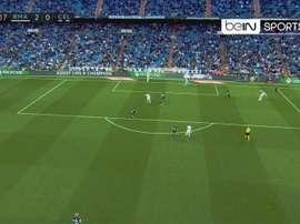 Segundo golo de Bale. Twitter/beINSports