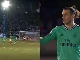 Gareth Bale ouvre le score pour le Real Madrid. Capture/Twitter/DAZN