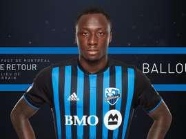 Ballou Tabla retourne définitivement à Montreal Impact. Twitter/impactmontreal
