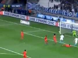 Balotelli a marqué contre Nice. Capture/Canal+