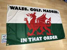 Wales responded to Mijatovic with a flag about Bale. Twitter/WelshFootyFlags