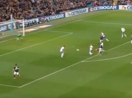 Banega scored Argentina's opening goal. Captura