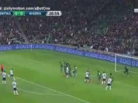 O momento do gol de Banega. Twitter/Captura