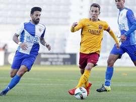 Barça B y Sabadell empataron a dos goles en lo que parece que será un duelo directo para evitar el descenso. Twitter