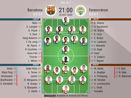 Barcelona v Ferencvárosi , Champions League 2020/21, group stage, matchday 1. BeSoccer