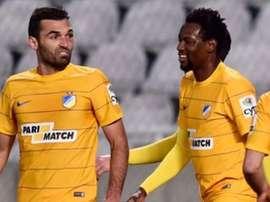 El APOEL, rival del Athletic, empató ante el AEK Larnaca. APOEL