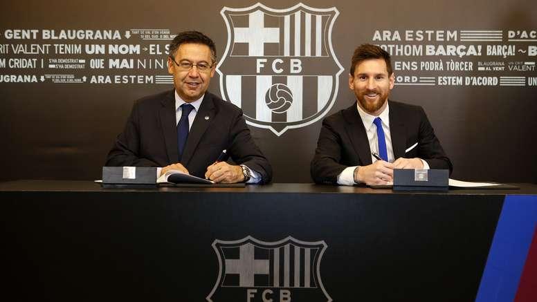 Sale a la luz una cláusula en el contrato de Messi. FCBarcelona