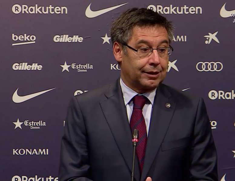 Bartomeu spoke to the media after the club's emergency meeting. FCBarcelona