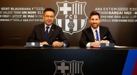 Messi poderá renovar novamente com o Barcelona. FCBarcelona