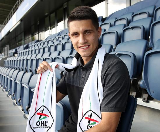 Kapustka has joined Leuven on a season-long loan. Twitter/OHLeuvren