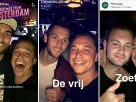 Bas Dost, De Vrij y Zoet, de fiesta en Amsterdam. DiarioRecord
