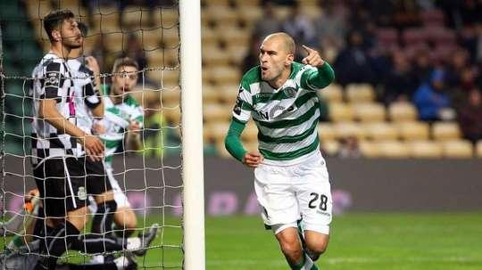 Bas Dost marcó el tanto del empate. Facebook/SportingCP