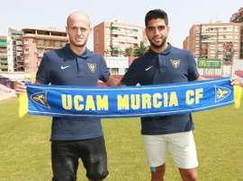 Basha y Jona aseguran que se dejarán la piel por ayudar al UCAM Murcia. EFE