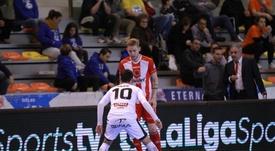 Aspil Vidal Ribera Navarra, directo al 'play off'. Twitter/JimbeeCartagena