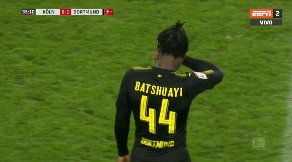 La réaction de Batshuayi après son premier match — Borussia Dortmund