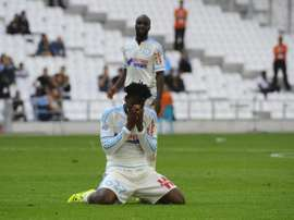 Batshuayi, del Marsella, se lamenta tras la derrota ante el Angers. Twitter
