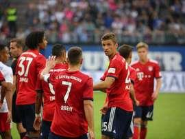Bayern de Munique vence o Hamburgo em amistoso. Twitter @FCBayern