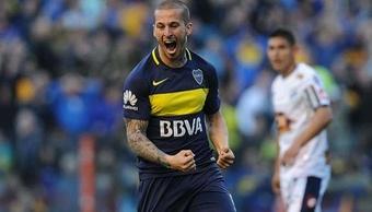 El argentino anotó el único gol del partido ante Defensa. BocaJuniors