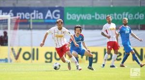 Jahn Regensburg salvaged a point at the death. Twitter/Bundesliga_DE